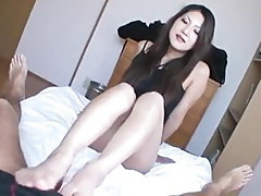Saya Shows Her Blowjob Skills As She Sucks Him Dry