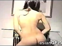 Beautiful Asian juggy dances naked in front of her web cam