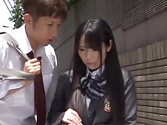 Schoolgirl Mana Katase group public action