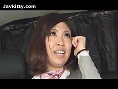 Japanese Lady In A Car