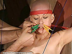 Toe tied asian bondage babe Kumis foot fetish and hot wax