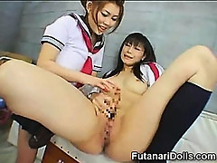 Futanari Schoolgirl Cumming!