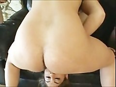 Indian Whore gets 3 British White cocks