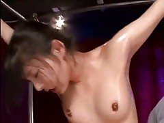Spread Eagle Bondage and Orgasm For Japanese Girl