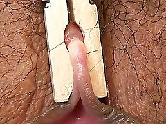 Clothespin on Clit