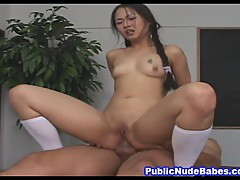 Asian Babe Hard Anal Inside Office