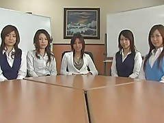 Japanese Group of obscene office girls