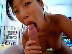 French Asian wife doing her thing