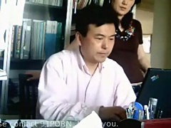 Chinese boss fucks his secretary in the office