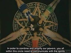 Subtitled bizarre Japanese witchcraft lesbian toy orgy