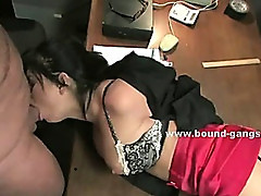 Beautifull magic show asian assistant wakes up tied in basement with her big boobs and pussy naked