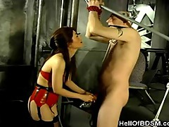 Asian Dominatrix Punishes Her Slave