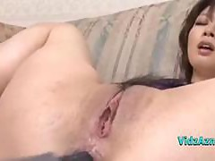 Asian Girl Getting Both Holes Fingered Fucked With Toys By 2 Guys On The Couch In The Sitting Roo