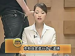 Beautiful Japanese Newscaster Gets Several Facisls asian cumshots asian swallow japanese chinese
