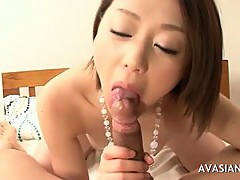 Sexy Japanese Whore Enjoys Cock Sucking And Swallowing