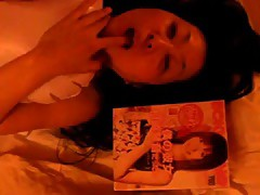Japanese AV Idol Sex Pillow Play Part 1