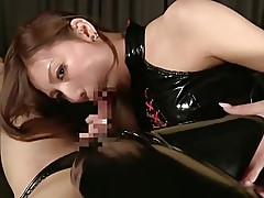 Asian Queen toy with slave
