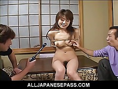 Teen is tied up and used as a fuck machine as her body is to