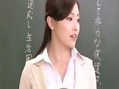 Asian teacher and her horny students