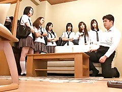 Japanese Big Group Strap On Fuck