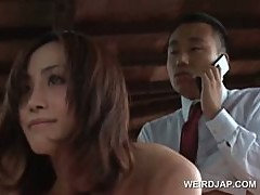 Outdoor asian hardcore fuck with redhead gorgeous sex doll