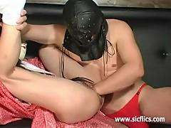 Hard vaginal fisting and huge dildo penetrations