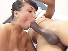 Avena Lee Sucks Big Black Cock