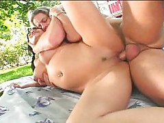 Avena Lee vagina fucked outside hard