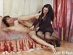MILF milks a kinky Asian's prostate