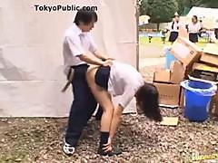 Japanese Schoolgirl Fucked Outdoors