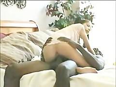Skinny Whore Ravaged By Huge Black Cock