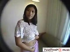 Hot amateur teen asian girl with big tits fucked on webcam pov style