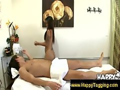 Boner flooding Thai massage