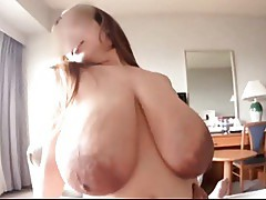 Japanese girl witg giant tits and areolas