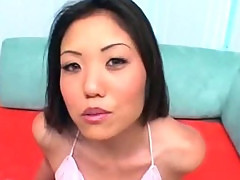 Busty asian hooker suck and jump two dicks