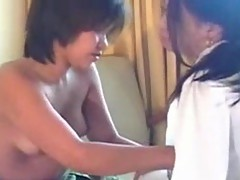 2 teenager lesbo Chinese chicks having sex around