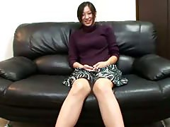 Horny oriental mature is teasing camera