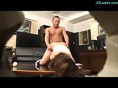 Office Lady With Handcuffs Dominated By 2 Bosses Fucked Facial On The Couch In The Office