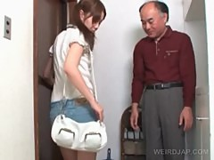 Innocent asian schoolgirl talked into sex by old guy