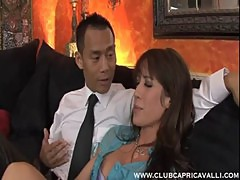 AMWF Capri Cavalli Kortney Kane interracial threesome with Asian guy