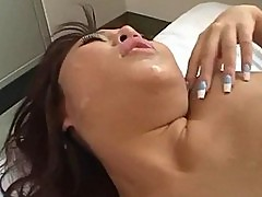 Asian Hottie Stars in Her First Gangbang Scene
