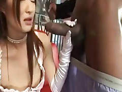 Horny Jap Maid Takes On Two BBC 420