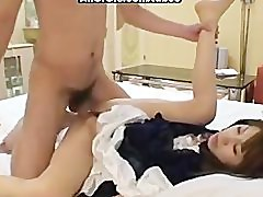 Cosplay asian pussy in homemade video