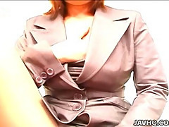 Sexy office lady Anna Yumisaki masturbating