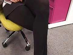 Everybody worships your pantyhose hotwife at work