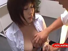 Busty Office Lady Getting Her Tits Rubbed Pussy Fingered Fucked From Behind In The Office