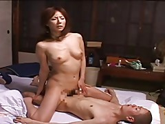 Japanese mom tries to quietly masturbate