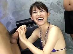 Ai Himeno likes snake play and team masturbation