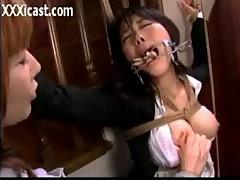Asian Face Bondage
