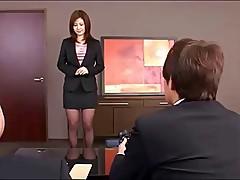 Deepthroating office worker